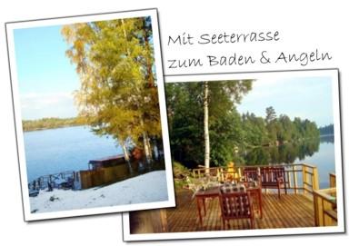ferienhaus schweden see mieten sie unser schwarzes ferienhaus in schweden am see. Black Bedroom Furniture Sets. Home Design Ideas